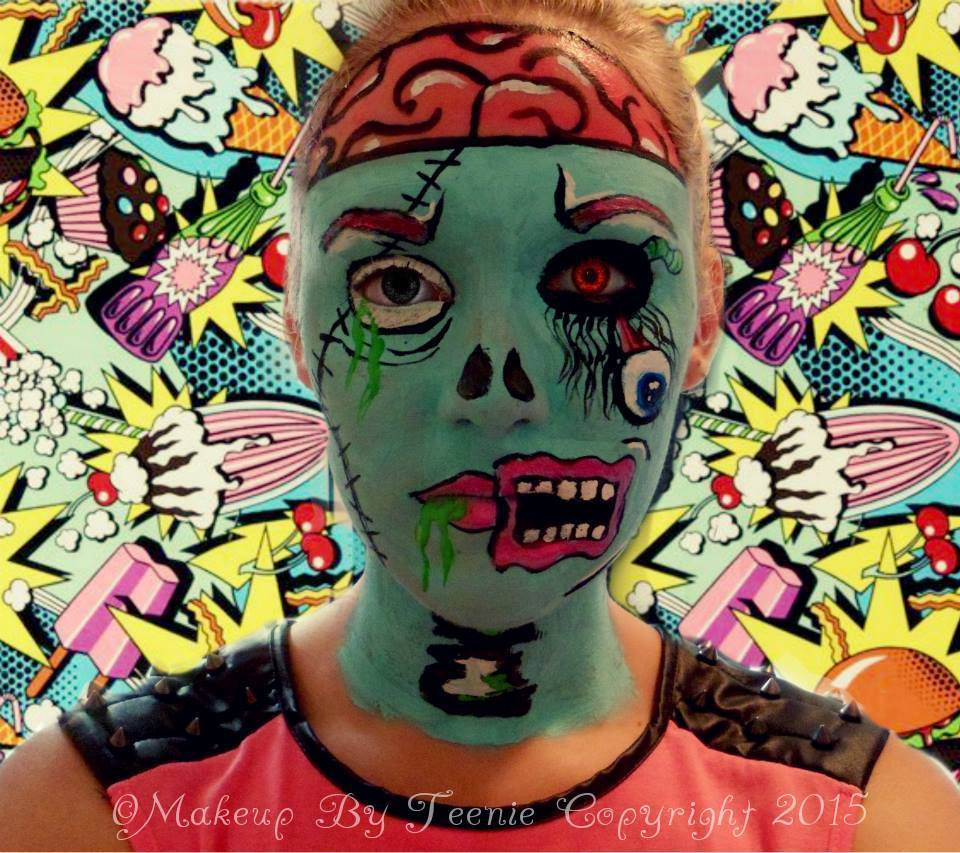 Julia graf: the walking dead zombie makeup.