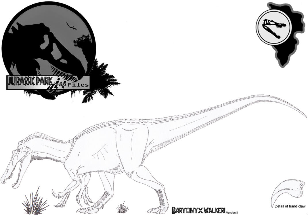 Ingen files baryonyx beta version ii by miyess on deviantart for Baryonyx coloring pages