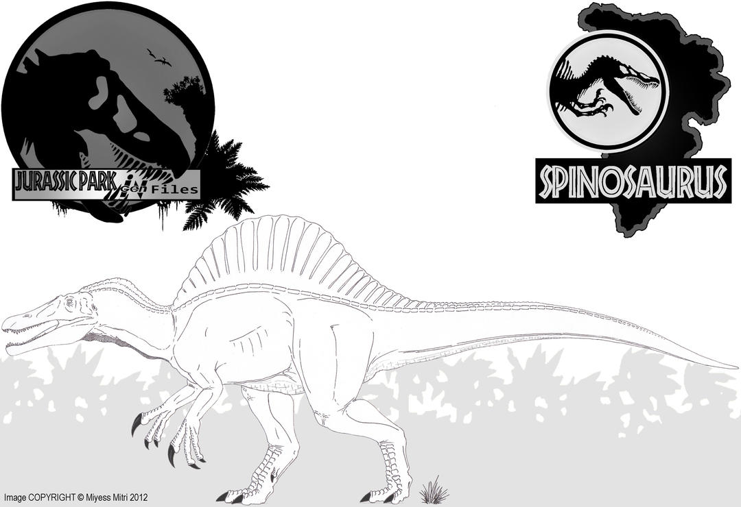 Spinosaurus beta version ii by miyess on deviantart for Dinosaur coloring pages spinosaurus