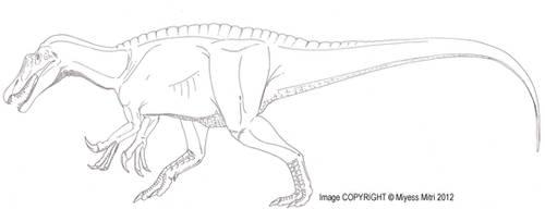 Ostafrikasaurus crassiserratus by Miyess