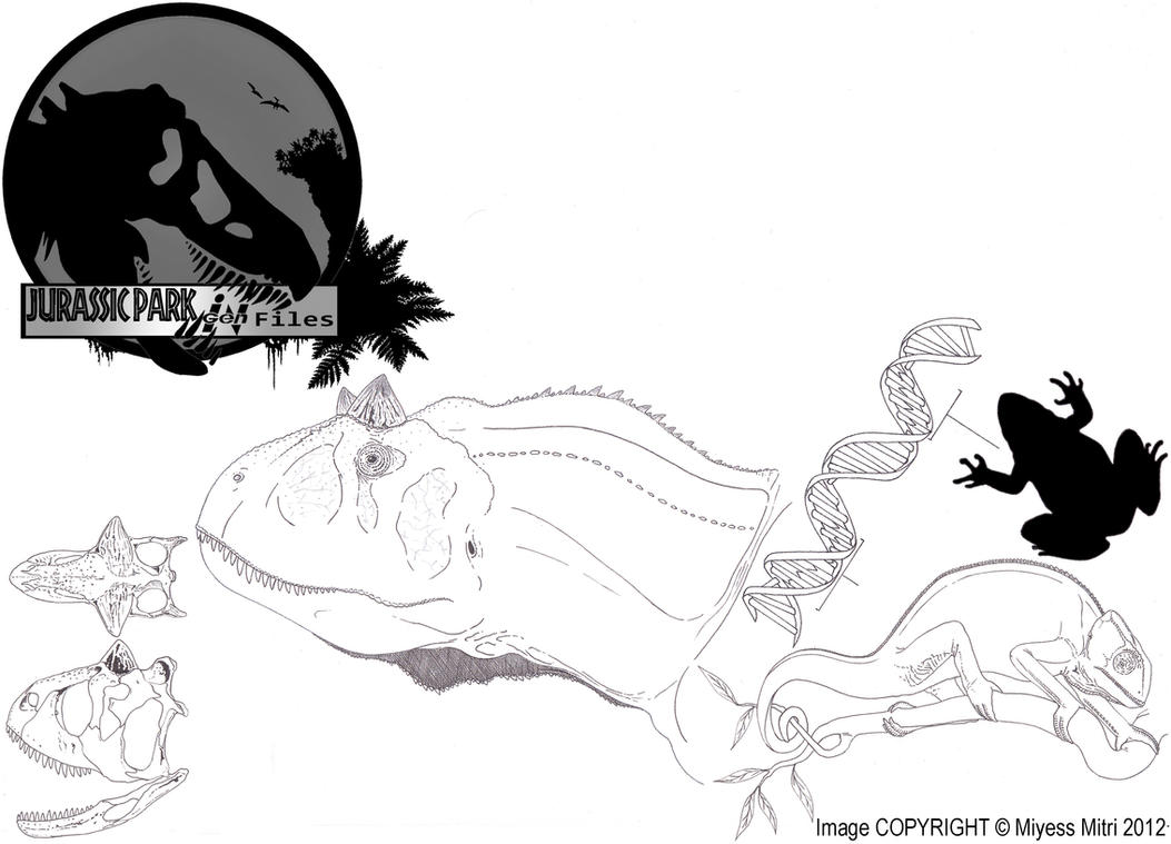 InGen Files Carnotaurus sastrei by Miyess
