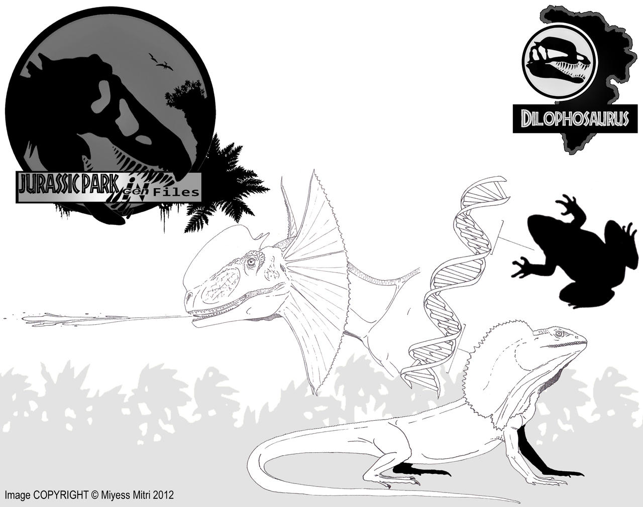 InGen Files Dilophosaurus Updated By Miyess