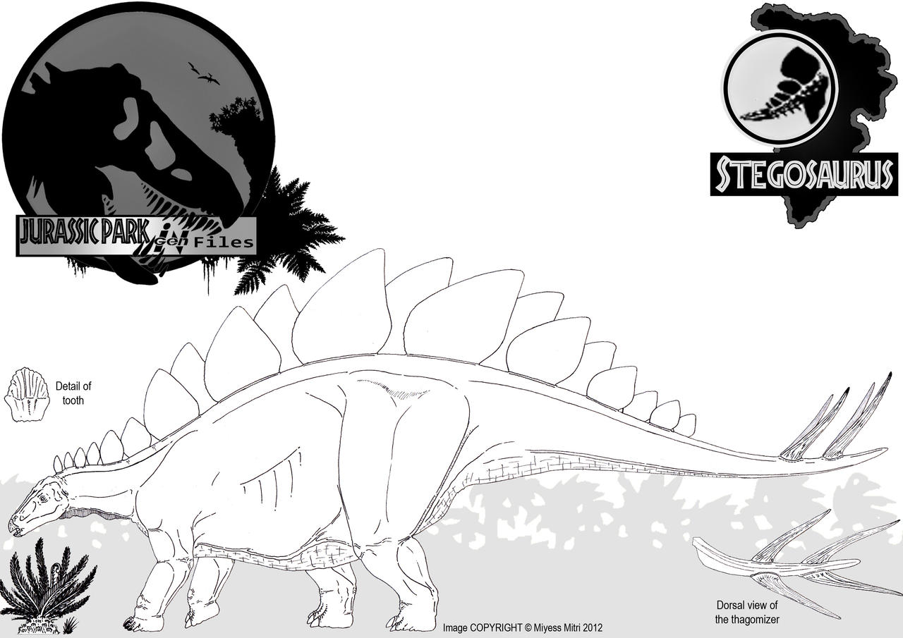 InGen Files - Stegosaurus stenops by Miyess
