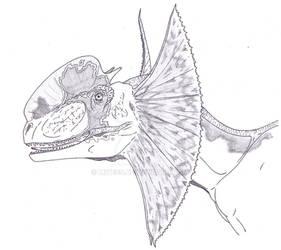Dilophosaurus colored