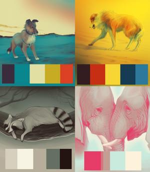{Palette studies}