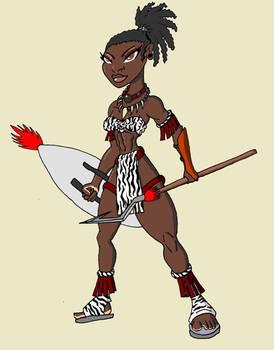 Zebra Girl Quamarah