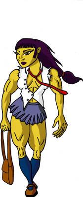 Muscular Schoolgirl