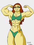Female Bodybuilder Contest Pose by JonKin