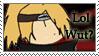 Lol Wut -- Deidara Stamp 8D by spacyg1