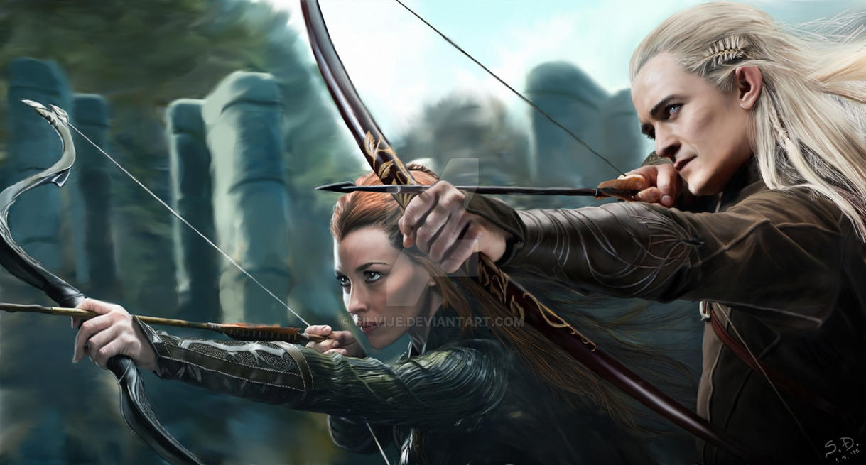 Tauriel and Legolas by silvije