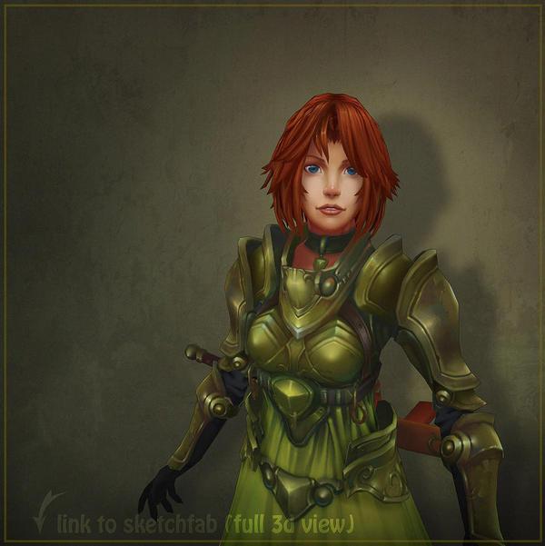 Girl in green by Shinobik