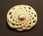 fibonacci bone brooch