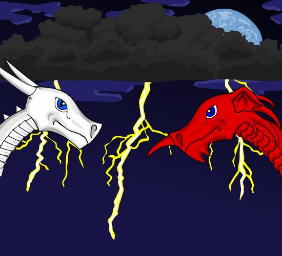 Red Dragon Vs White Dragon