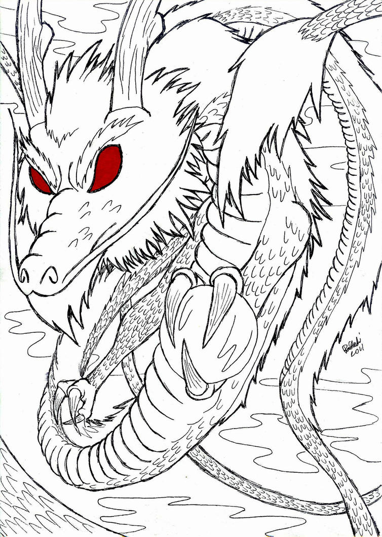 Line Art Dragon : Dragon line art by raitachi on deviantart
