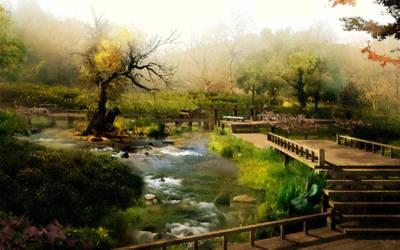 Japan Landscape by Vilibald Martic by UmjetnikVelikaSrca