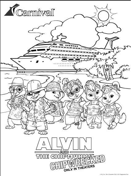chipmunk cruise coloring page by johnnychipmunks2 on ...