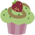 Strawberry Cinnamon Cilantro Cupcake Emoticon