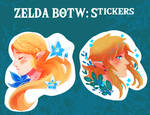 Zelda BOTW stickers duo!
