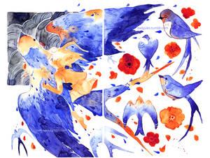 Mindless doodles - Swallows