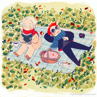 Good Omens - A picnic in the fall