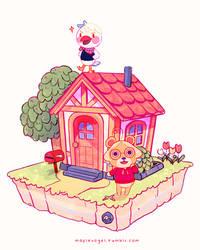 AC - Bear and birdie house