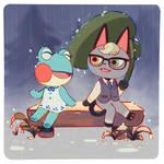 ACNH - Rainy day friends