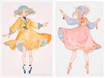 OC - Odette dresses