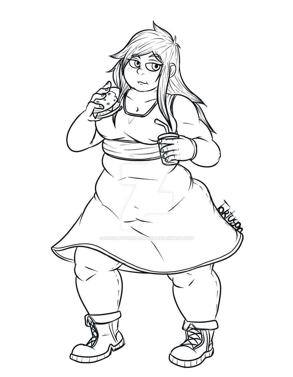 Natty The Fatty chubby nattyozvald-turtlerock on deviantart