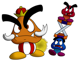 Mario Collab #3 - Goomba King by Fawful92