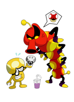Mario Collab #6 and #7 - Dr.Shroob and Swiggler by Fawful92