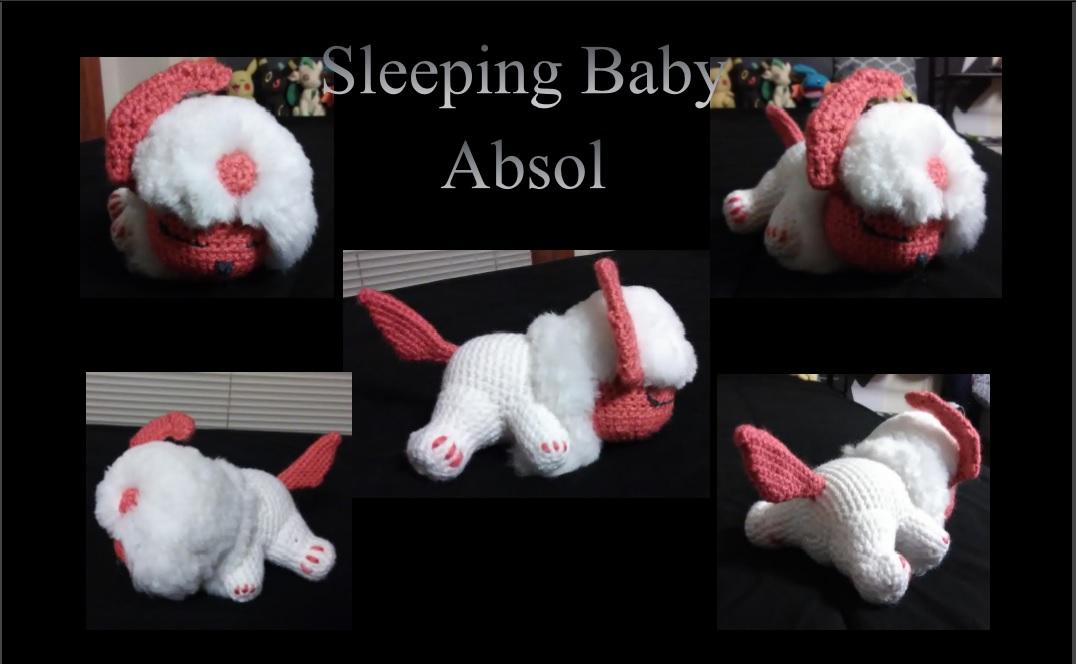 Shiny, Sleeping Baby Absol Amigurumi by ScarletBreanne on ...