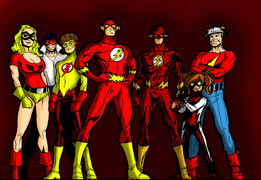 the flash family full colored by chickenmonkey707 on
