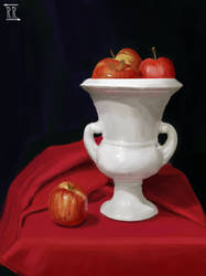Apples in Vase Still Life Study