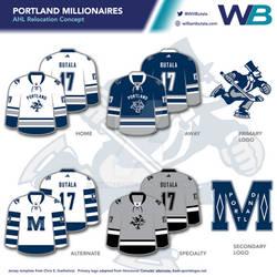 Portland Millionaires - AHL Jersey Concept