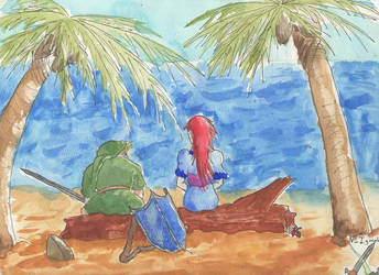 Blast from the Past: Link and Marin at the Seaside by JD-Kloosterman