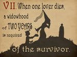 Rule 07: A Widowhood of Two Years by JD-Kloosterman