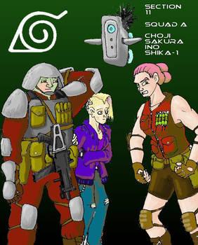 Section 11--Choji, Ino, Sakura, Shika.