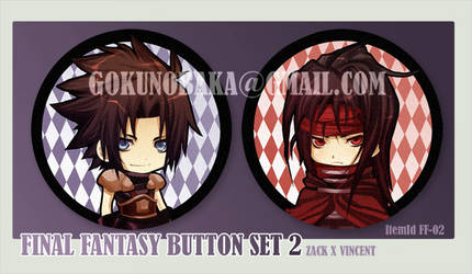 Final Fantasy Button set 2