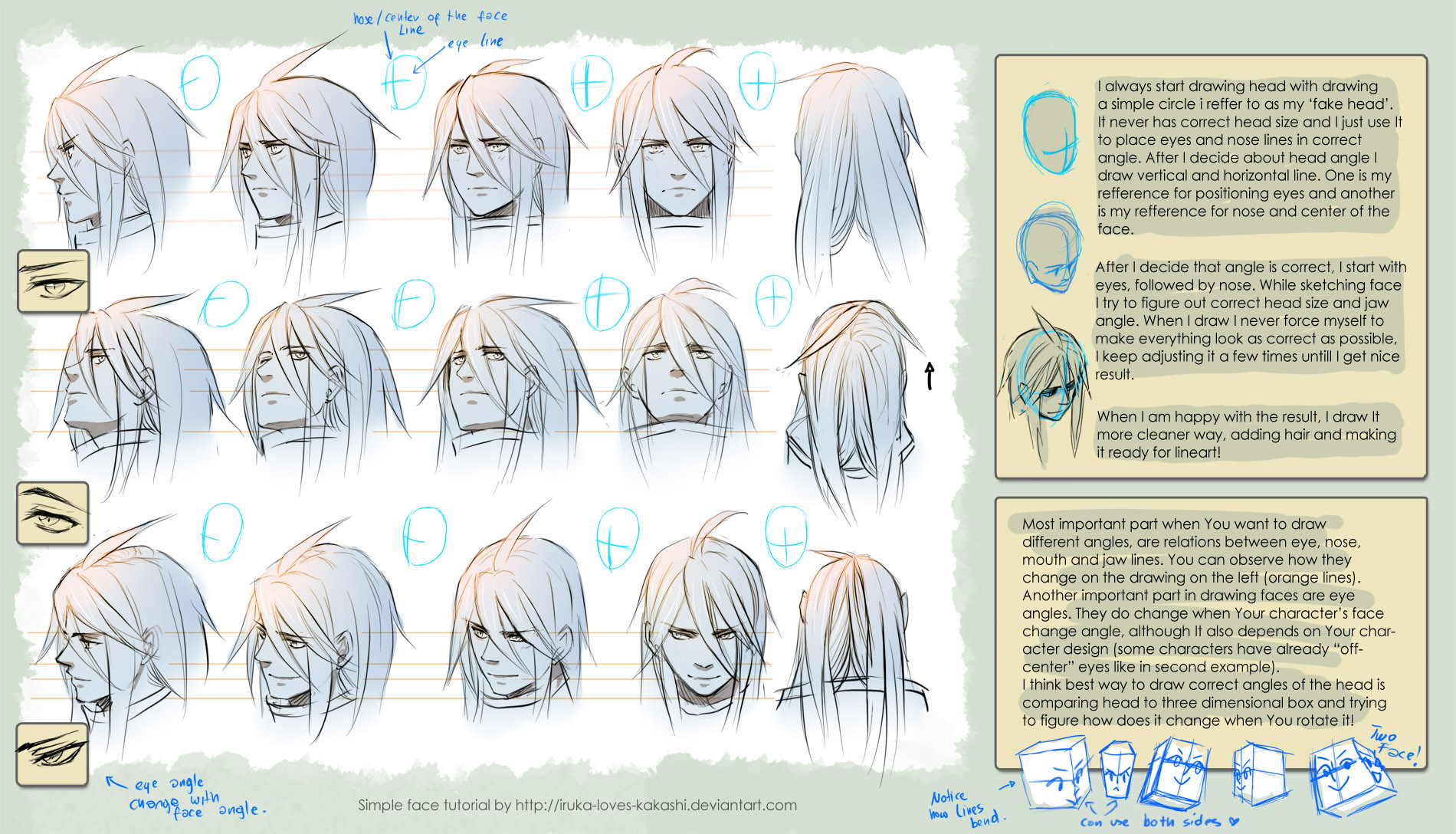 + Tutorial - Drawing heads + by goku-no-baka