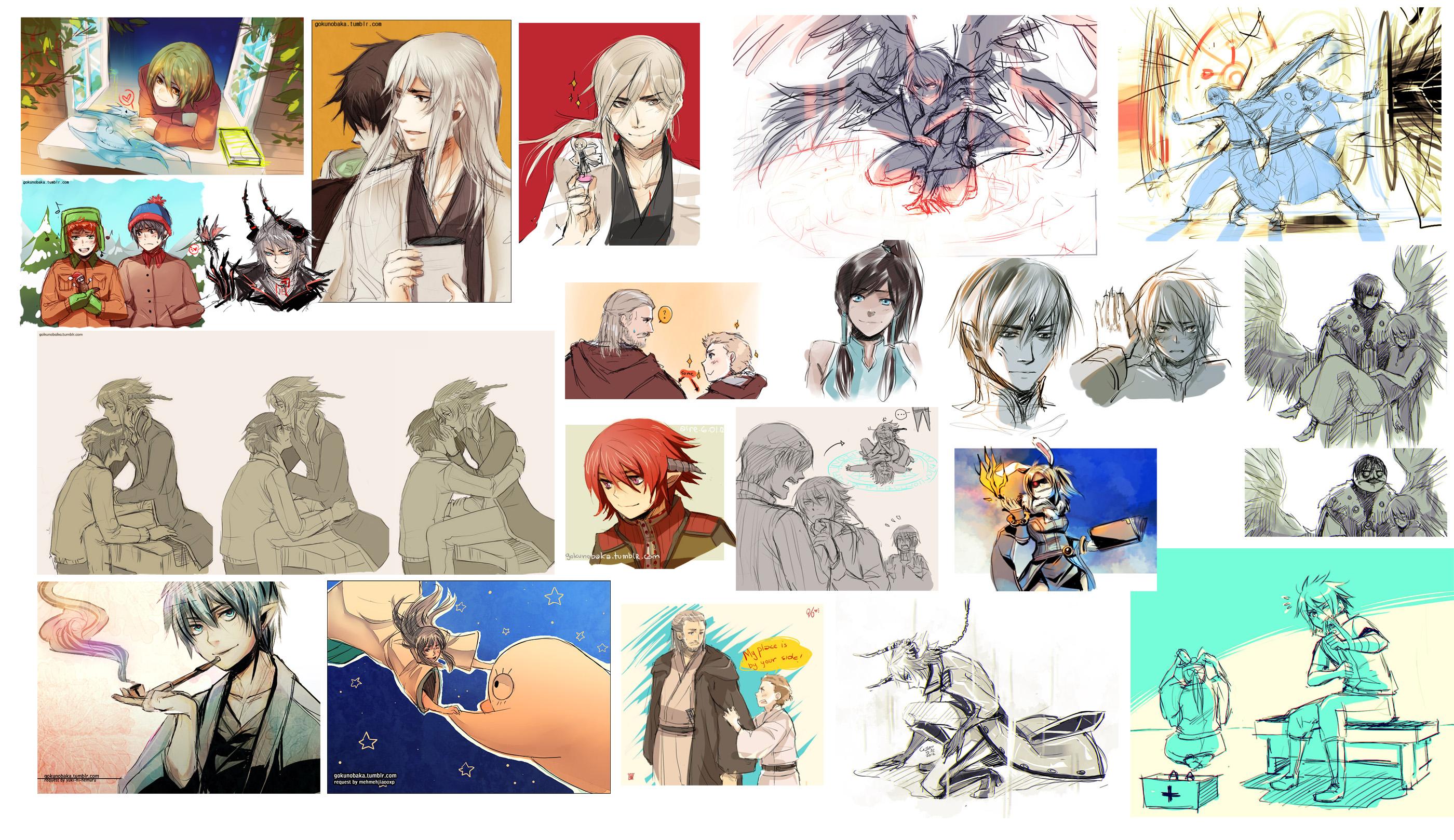 Skydoesminecraft Fan Art Tumblr Oc And Fanart Dump By Iruka Loves Kakashi
