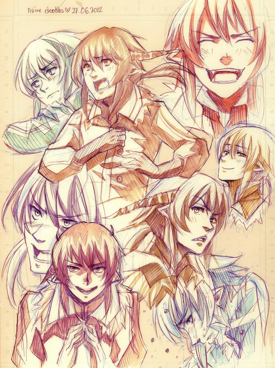 + Aaire expression Doodlage + by goku-no-baka