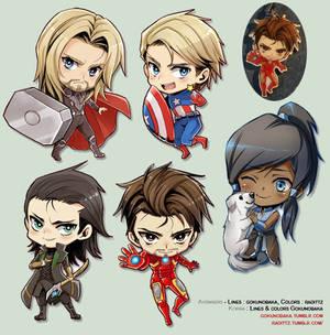 +Korra- Avengers - Japan Expo Keychains!+
