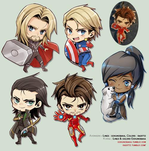 Korra- Avengers - Japan Expo Keychains!+ by goku-no-baka on DeviantArt