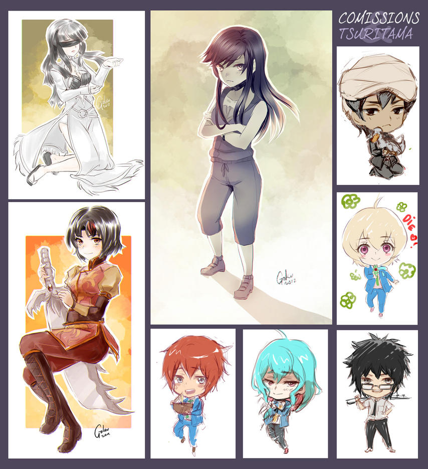 +Comissions and keychains drafts Batch+ by goku-no-baka