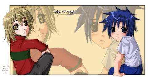 Axiss and tsumi SD Anime x3 by goku-no-baka