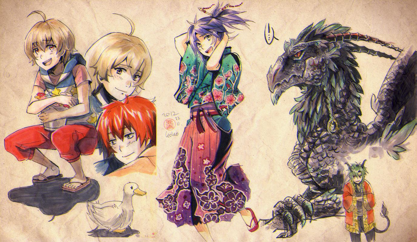 Copic doodlage 2 by goku-no-baka