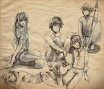 +Doodlage - pencil sketches+
