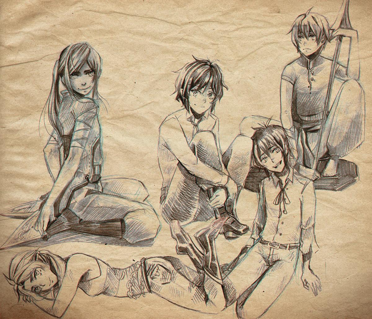+Doodlage - pencil sketches+ by goku-no-baka