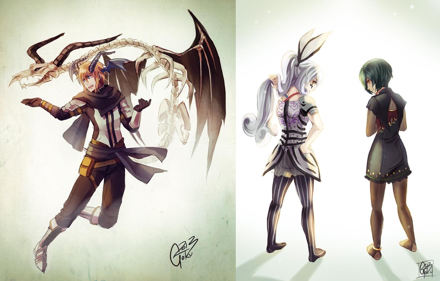 +Sketch Commissions batch 7+ by goku-no-baka