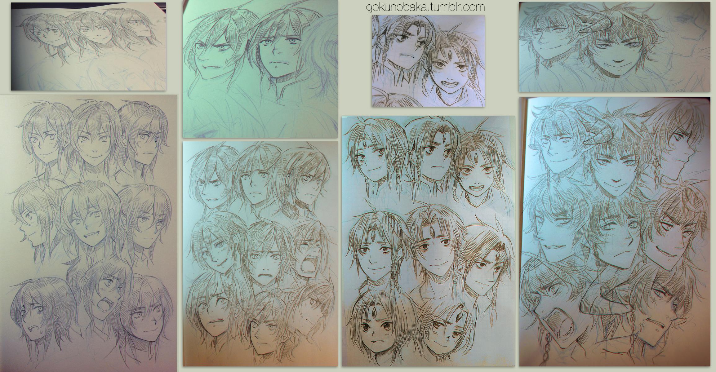 +Tumblr Face angle Sketch Practice+ by goku-no-baka